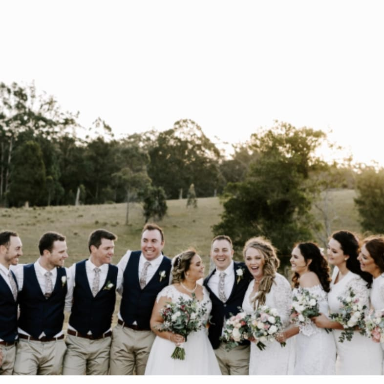 Emma and Carlin with their bridal party Ocean View Estates 10 August 2019