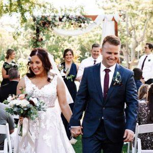 Wedding ceremony set ups on location Roma Street Parklands