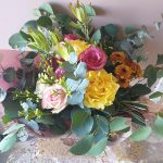 Bright colours bunch flowers