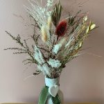 Small preserved and dried nature inspired vased arrangement
